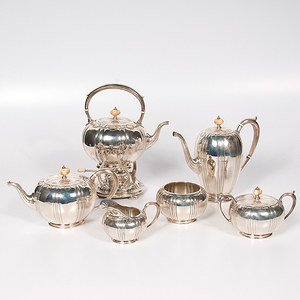 Durgin for Gorham Sterling Tea and Coffee Service