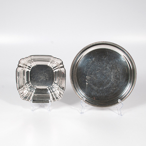 Gorham Sterling Tray and Square Bowl