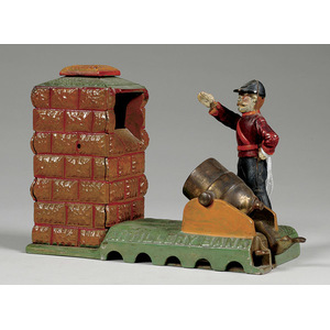 Shepard Cast Iron Mechanical Artillery Bank,