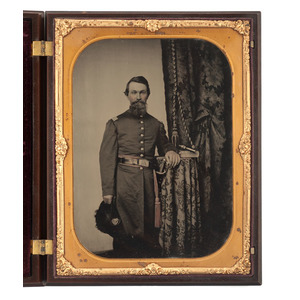 Captain John Wilson, 8th Kentucky Infantry, Archive Including Whole Plate Ambrotype