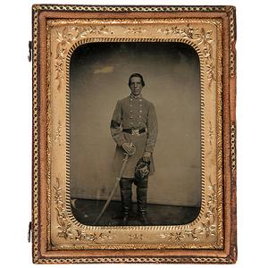 Civil War Quarter Plate Ambrotype of Confederate Lt. Bassett Atkinson Marsden, 1st Virginia Infantry