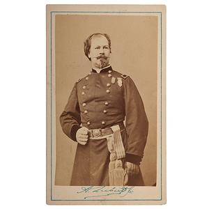 Union General William H. Morris, Signed CDV