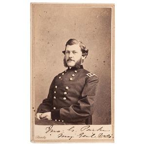 Union General John G. Parke, Signed CDV
