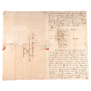 Important Revolutionary War Naval Document, Official Record of the Court Martial of Captain Whipple, Signed by John Paul Jones and Other Naval and Marine Corps Officers
