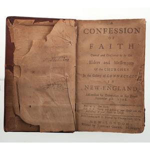 A Confession of Faith, Early Connecticut Imprint Regarding the Saybrook Platform, 1760