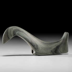 A Fine, Banded Slate Long-Neck Birdstone, From the Collection of Jan Sorgenfrei