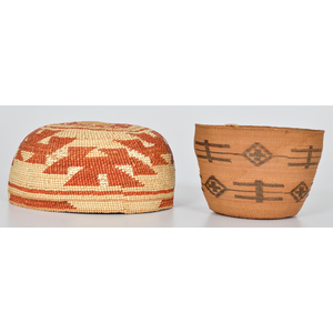 Northern California Hat and Tlingit Basket, Exhibited at the Booth Western Art Museum, Cartersville, Georgia