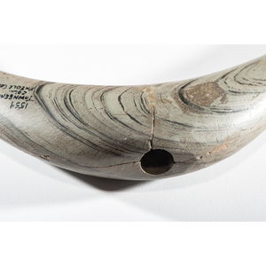 A Large Knobbed Crescent Banded Slate Bannerstone, From the Collection of Jan Sorgenfrei, Ohio