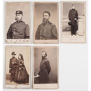 CDVs of Union Generals: Western Theater