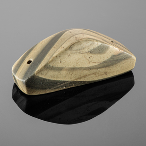 A Striking, Keel-Shaped Banded Slate Gorget, From the Collection of Jan Sorgenfrei, Ohio