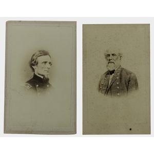 Robert E. Lee and Jefferson Davis CDVs, Lot of Two
