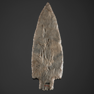 A Large Adena Stemmed Flint Ridge Knife or Spear, From the Collection of Jan Sorgenfrei, Ohio
