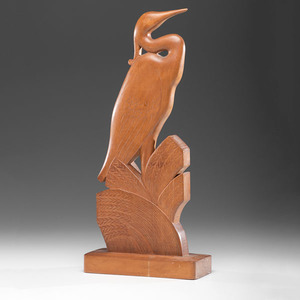 Stylized Crane Carving by Nishan Toor