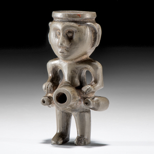 Human Effigy Janus Pipe, From the Collection of Jan Sorgenfrei, Ohio