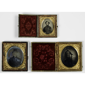 Three Civil War Cased Images, Including Identified Indiana Soldier