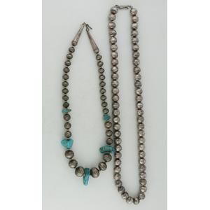 Navajo Silver Pearl Necklaces