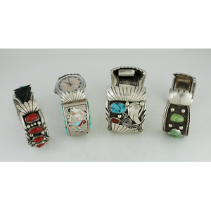 Assorted Navajo Silver Cuff Watch Bands