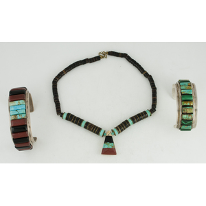 Kewa Inlaid Necklace PLUS Silver Inlaid Bracelets