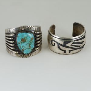 Hopi and Navajo Silver Cuff Bracelets