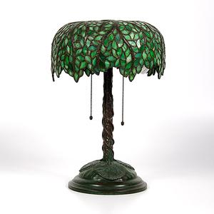 Tiffany-Style Leaded Glass Lamp
