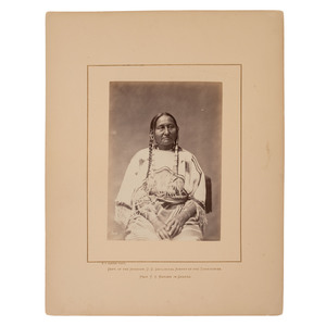 Alexander Gardner Albumen Photograph of Brulé Lakota Chief Two Strike's Squaw
