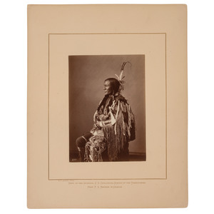 Alexander Gardner Albumen Photograph of Bull's Ghost, Lower Yanktonais Dakota