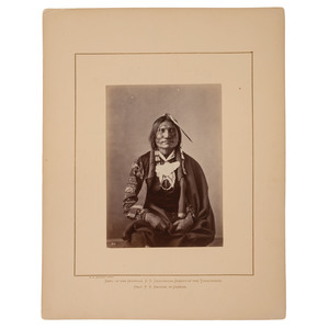 Alexander Gardner Albumen Photograph of Good Buffalo, Oglala Lakota