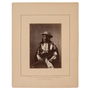 Alexander Gardner Albumen Photograph of High Wolf, Oglala Lakota