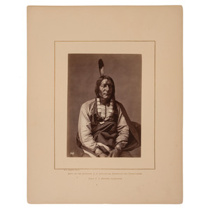 Alexander Gardner Albumen Photograph of Wicked Bear, Brulé Lakota