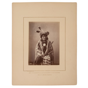 Alexander Gardner Albumen Photograph of Long Fox, Dakota