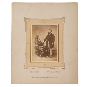 Alexander Gardner Albumen Photograph of Red Cloud and William Blackmore