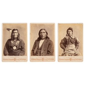 Hayden Expedition Cabinet Photographs of Identified Chippewa, Wichita, and Warm Springs Indians