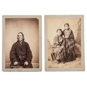 Albumen Photographs of Identified Sioux Indians by Shindler and Gardner