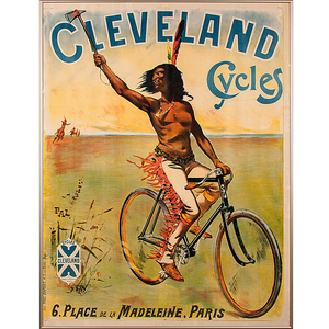 Cleveland Cycles Advertising Poster by Jean de Paleologu