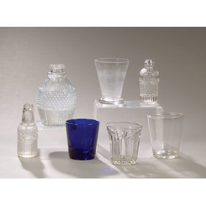 Lot of Early Three Mold and Blown Glass,