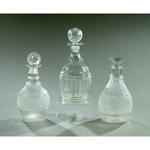 Lot of  Early Three Mold Decanters,