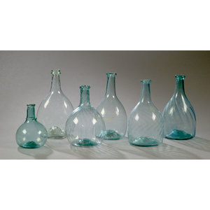 Lot of Six Blown Midwestern Bottles,