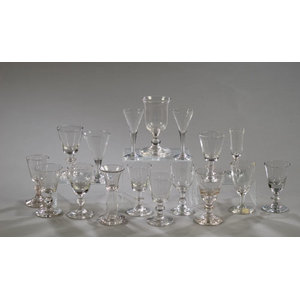 Lot of Early Blown Wine Glasses,