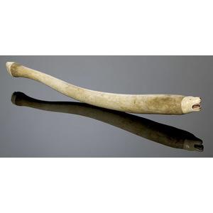 Eskimo Carved  Walrus Ivory & Baculum Club,
