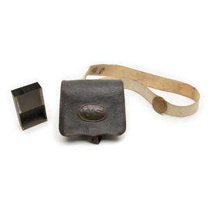 Early Infantry Cartridge Box with Buff Leather Strap