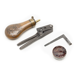 Eagle Flask, Mold, Cap Tin, Wrench for Pocket Model