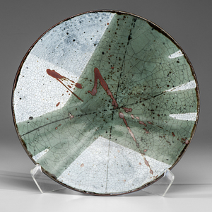Albert Green (1914-1994; USA) Large Circular Green Platter