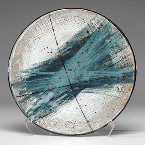 Albert Green (1914-1994; USA) Large Circular Blue Platter