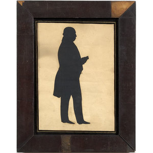 Full-Length Silhouette of a Portly Gentleman,