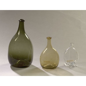 Lot of Three Early Blown Bottles,