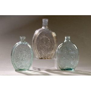Lot of Three Historic American Flasks,
