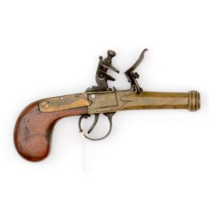 Brass Box Lock Flintlock Pistol