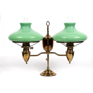 Bradley and Hubbard Double Student Lamp