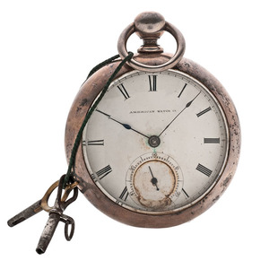 American Watch Company Coin Silver Pocket Watch
