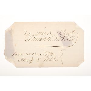 Franklin Pierce Clipped Signature